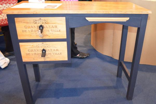 "Second place getter, the Grand Bazaar desk, lovingly ""redefined"" by Kathie Hands."