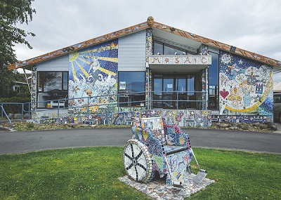 The Mosaic house in Taradale.