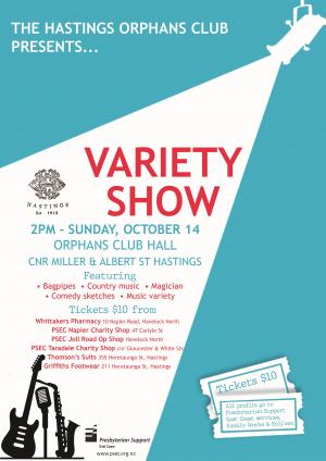 Hastings Orphans Club Variety Show poster web